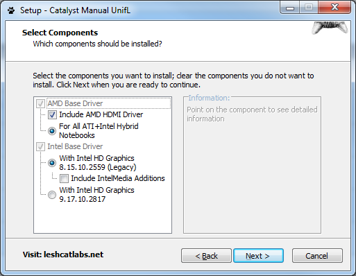 Установка драйверов UnifL при проблеме невозможности установить драйверы AMD Radeon и Intel