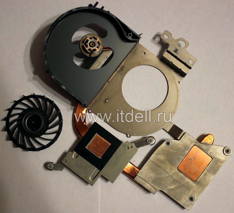 снимаем кулер и чистим систему охлаждения ноутбука dell inspiron n5110