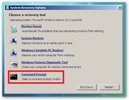 a disk read error occurred foto mbr recovery fix windows vista foto