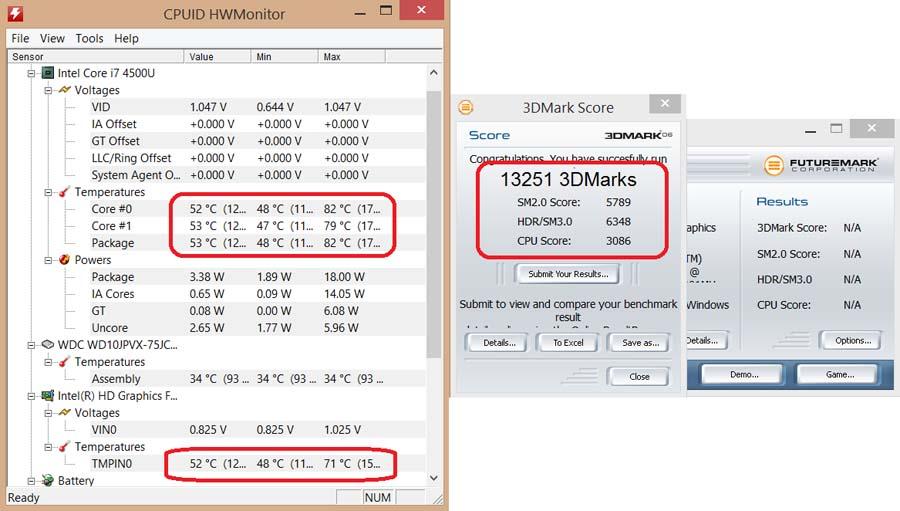 Падение частоты процессора ноутбука Dell Inspiron 5737  Часть 2